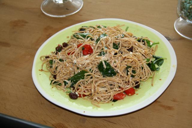 Mediterranean Goat Cheese Pasta Salad